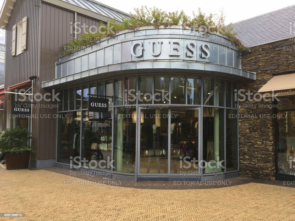 Guess fashion outlet store stock photo