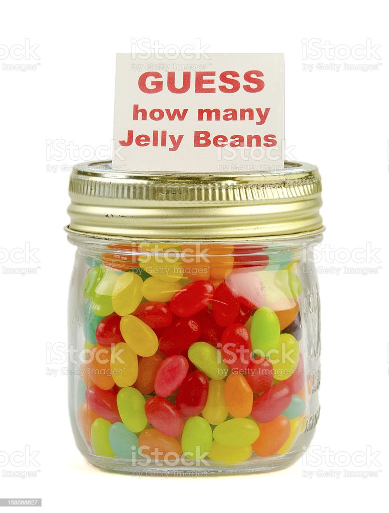 Guess how many jelly beans competition stock photo