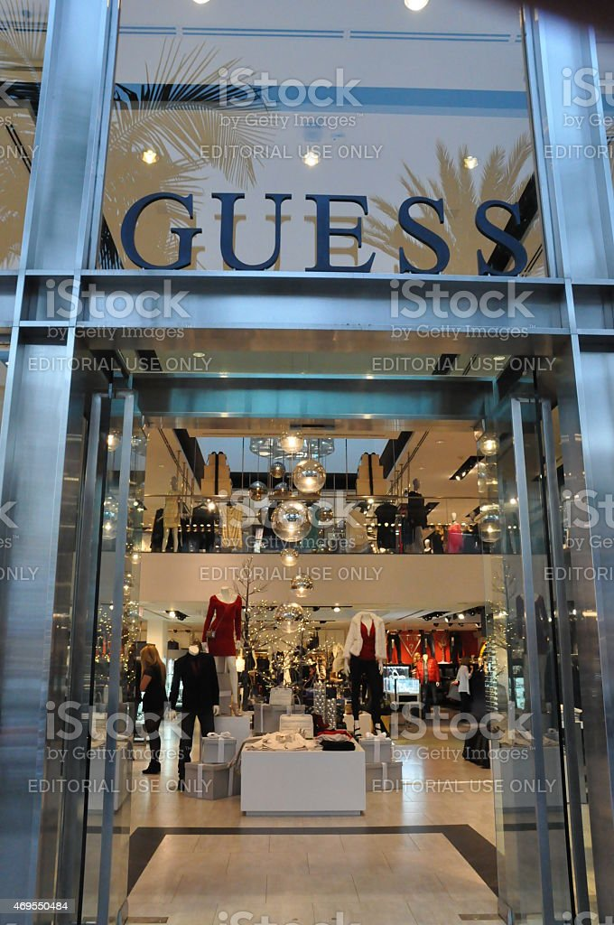 Guess store at Rodeo Drive in Beverly Hills, California stock photo