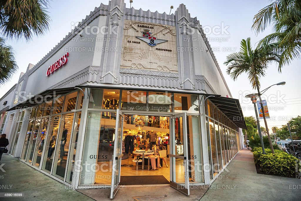 guess store miami beach stock photo more pictures of abraham