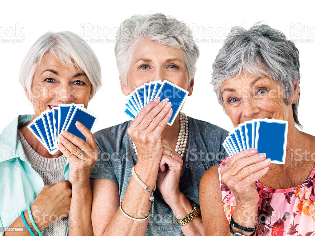 Guess who has the winning hand stock photo