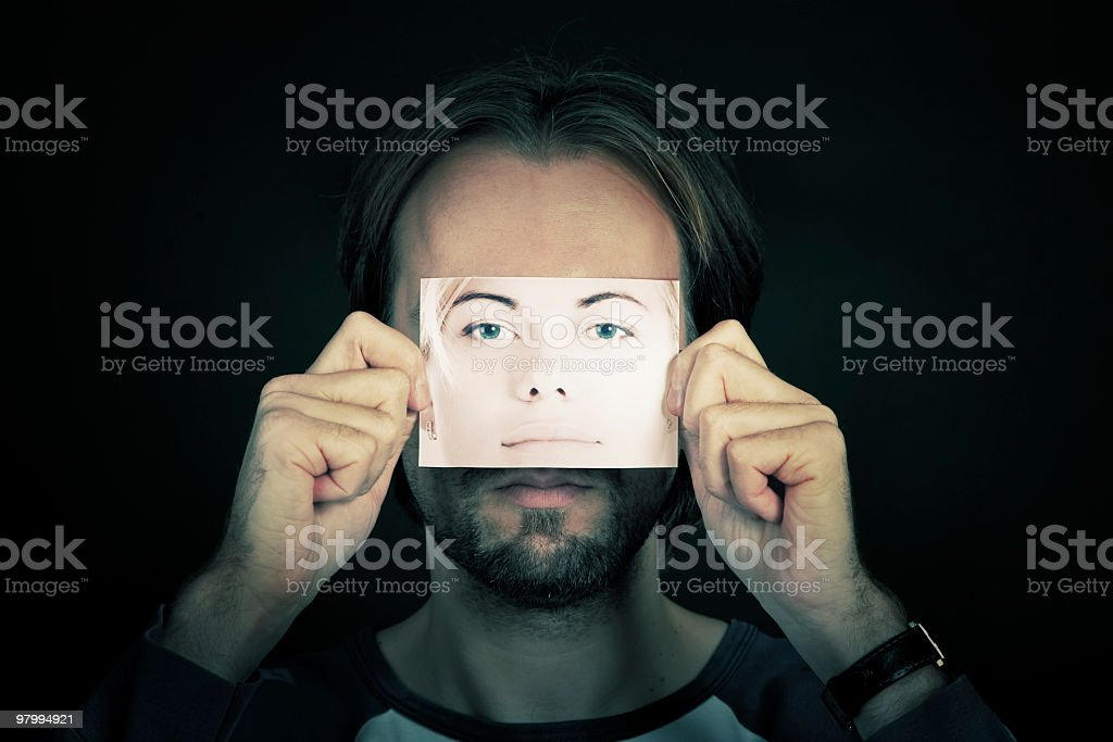 Guess who? royalty free stockfoto