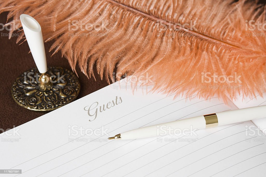 Guest Book and Pen Set royalty-free stock photo