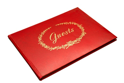 Guest Book Isolated