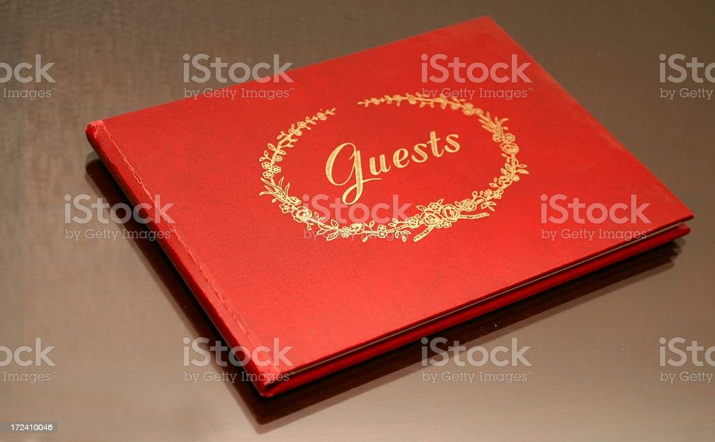 Guest Book On Tabletop royalty-free stock photo