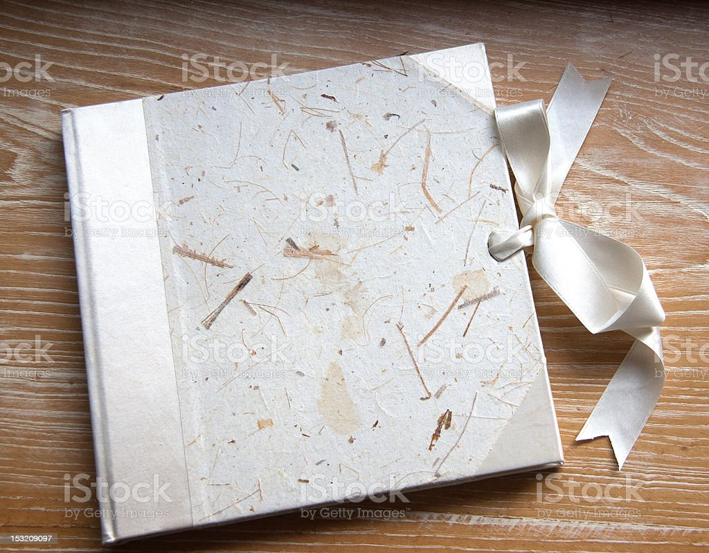 Guest Book On Veined Wood stock photo