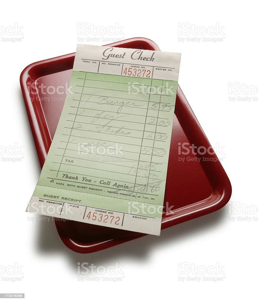 Guest Check royalty-free stock photo