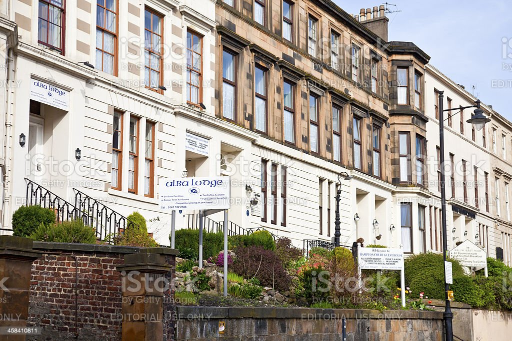 Guest houses in Garnethill, Glasgow royalty-free stock photo