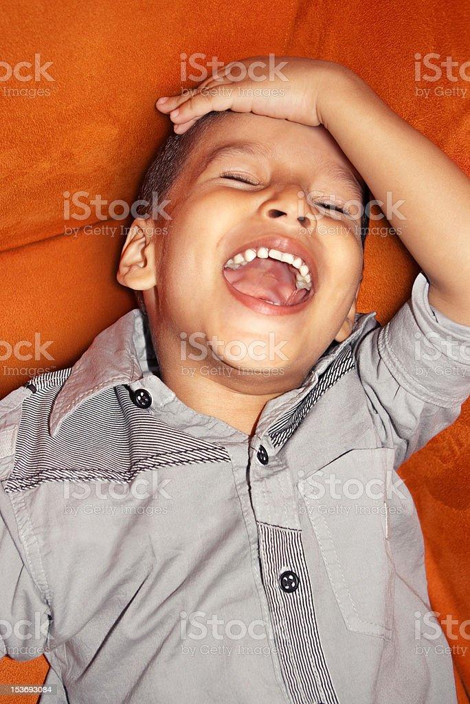 Guffaw child stock photo