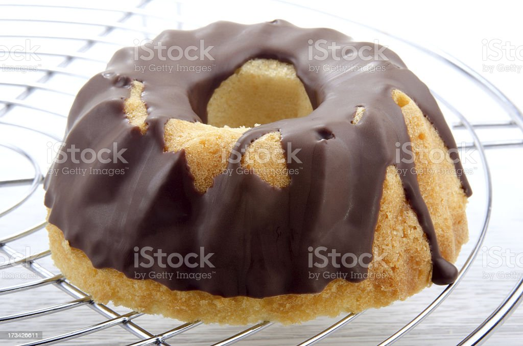 gugelhupf  covered with chocolate royalty-free stock photo