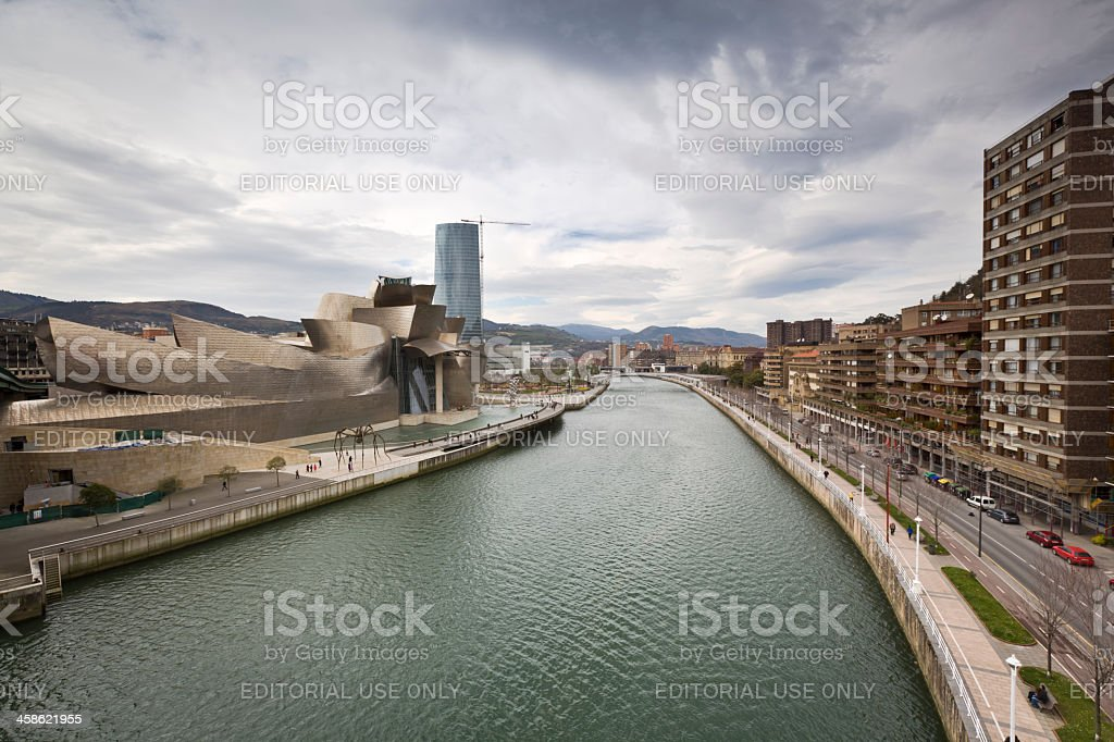 Guggenheim Bilbao museum stock photo