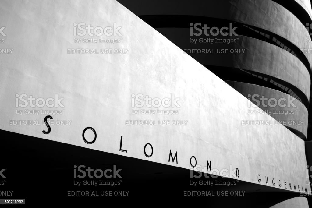 Guggenheim in monochrome. stock photo
