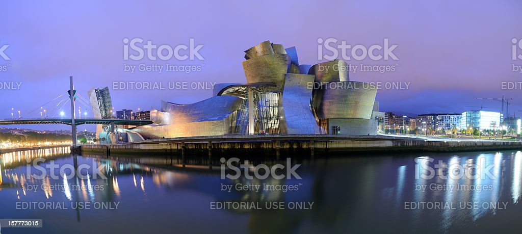 Guggenheim Museum Bilbao at Night stock photo