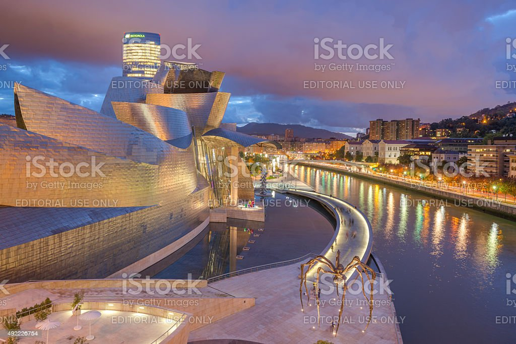 Guggenheim Museum in Bilbao stock photo
