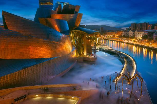 Guggenheim Museum on December 22, 2018 in Bilbao, Spain. stock photo
