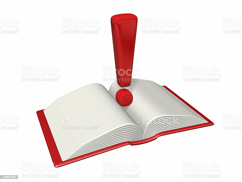 guidance exclamation book royalty-free stock photo