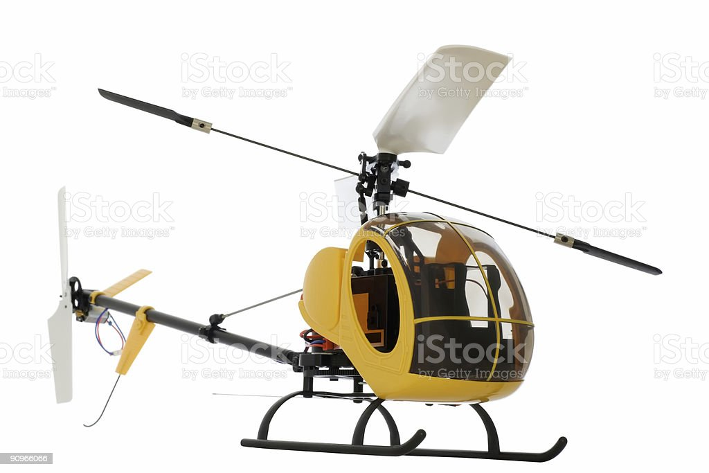 guided by radio model of helicopter royalty-free stock photo