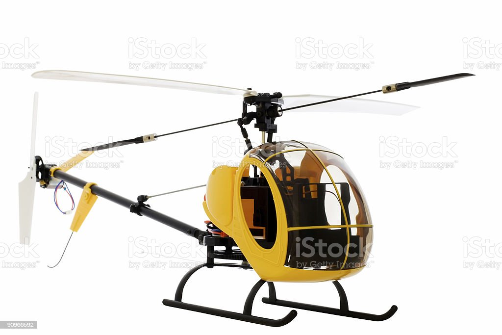 guided by radio model of helicopter stock photo