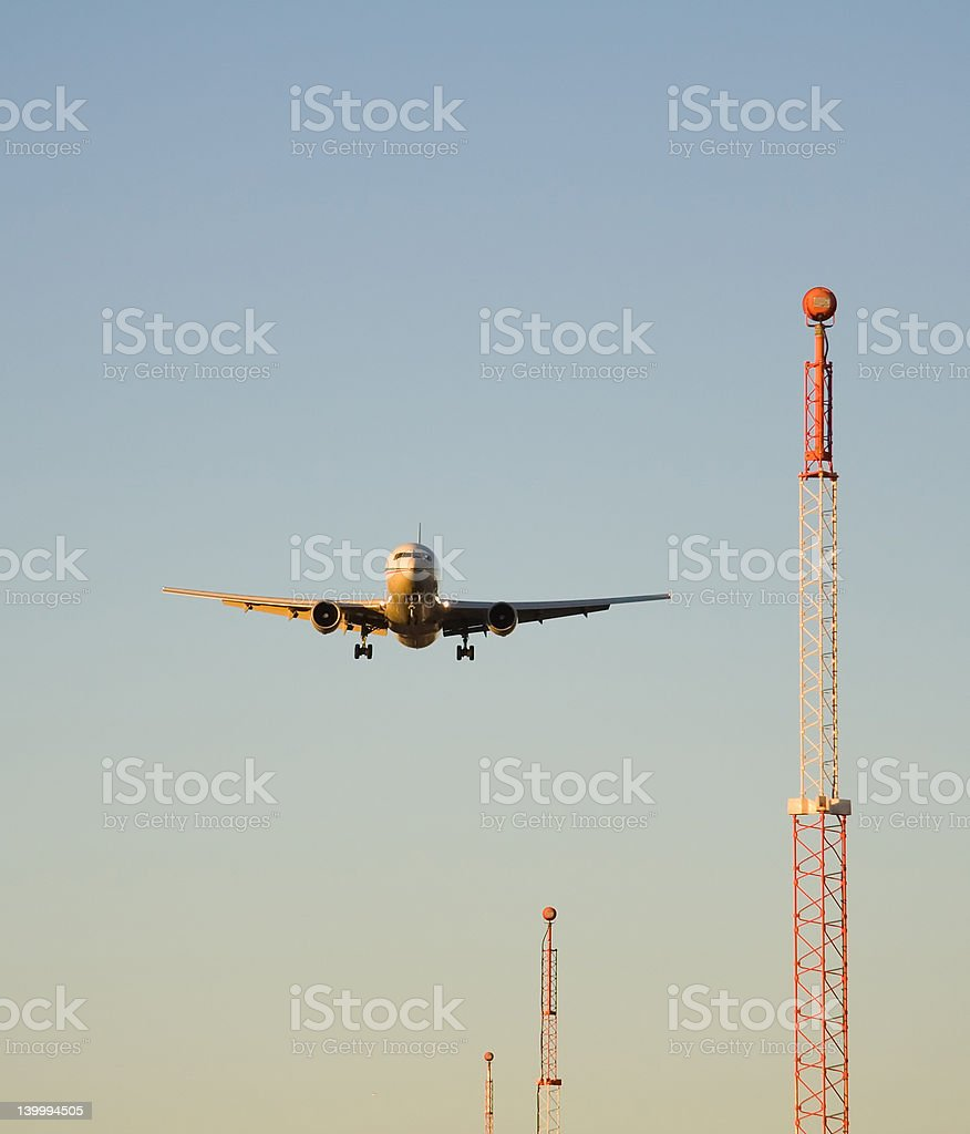 Guided Landing royalty-free stock photo