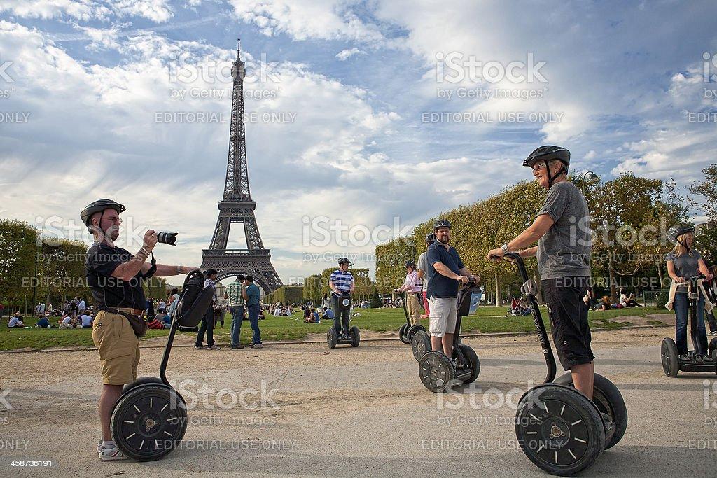 Guided Segway Tour of Paris stock photo