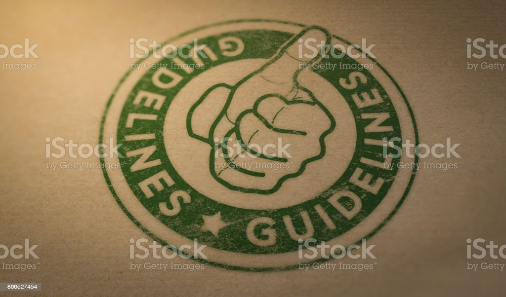 Guideline stock photo