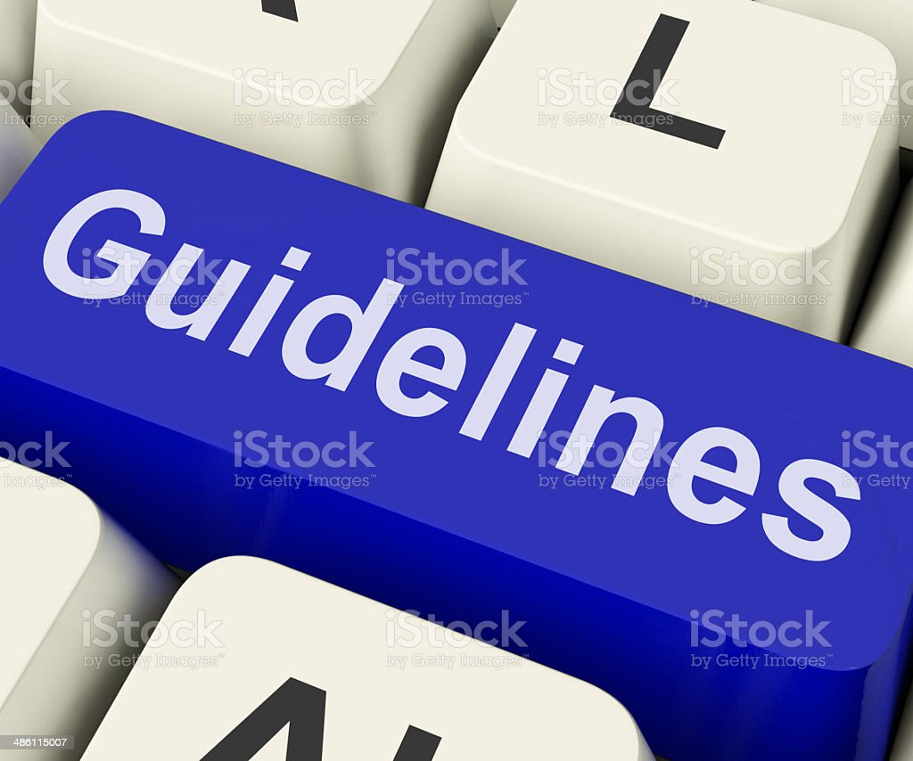 Guidelines Key Shows Guidance Rules Or Policy stock photo