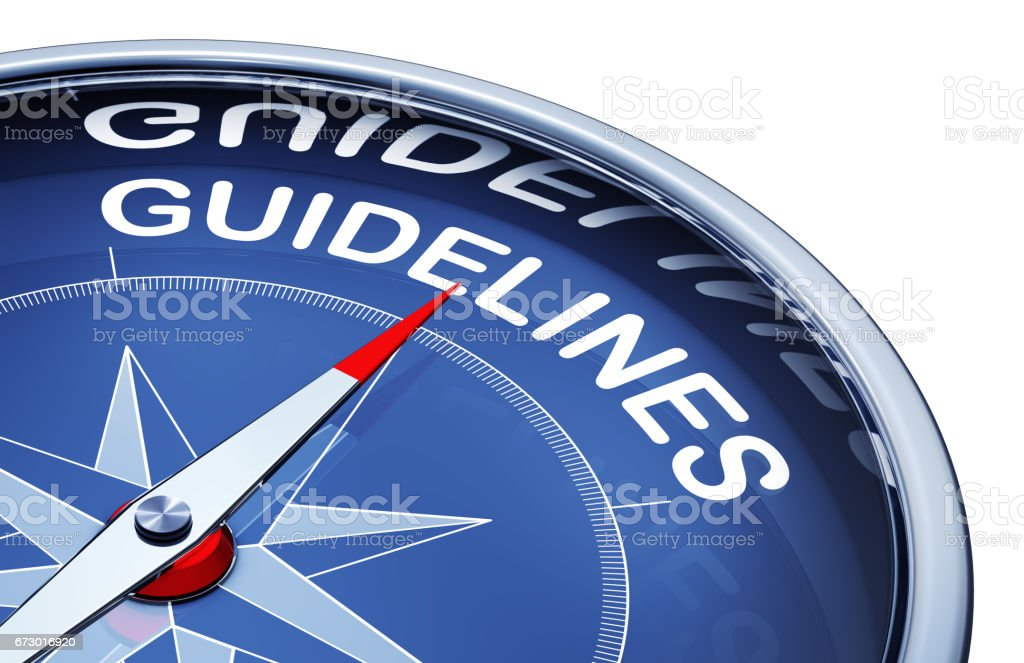 guidelines stock photo