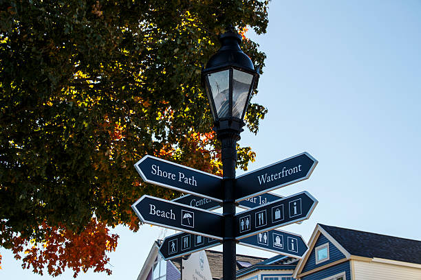 Guidepost in Bar Harbor, USA, 2015 – Foto