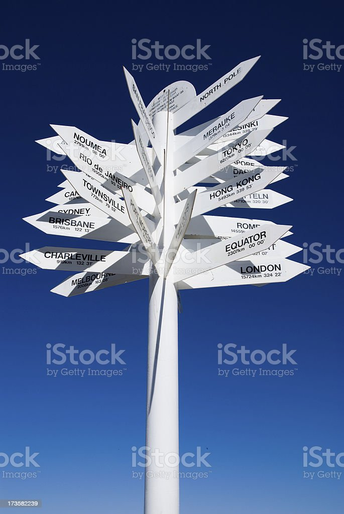 guidepost royalty-free stock photo
