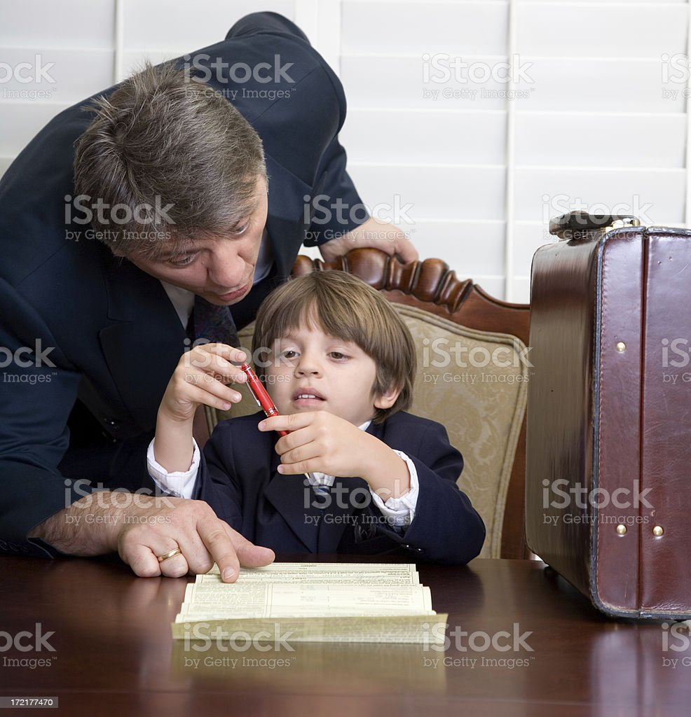 Guiding The Young royalty-free stock photo