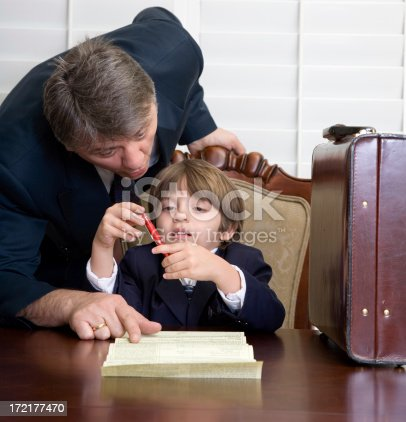 Yound child getting legal advice from his lawyer. How young is too young.