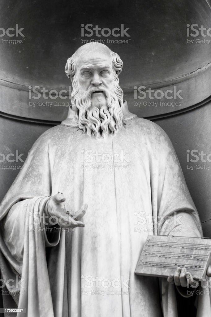 Guido of Arezzo stock photo
