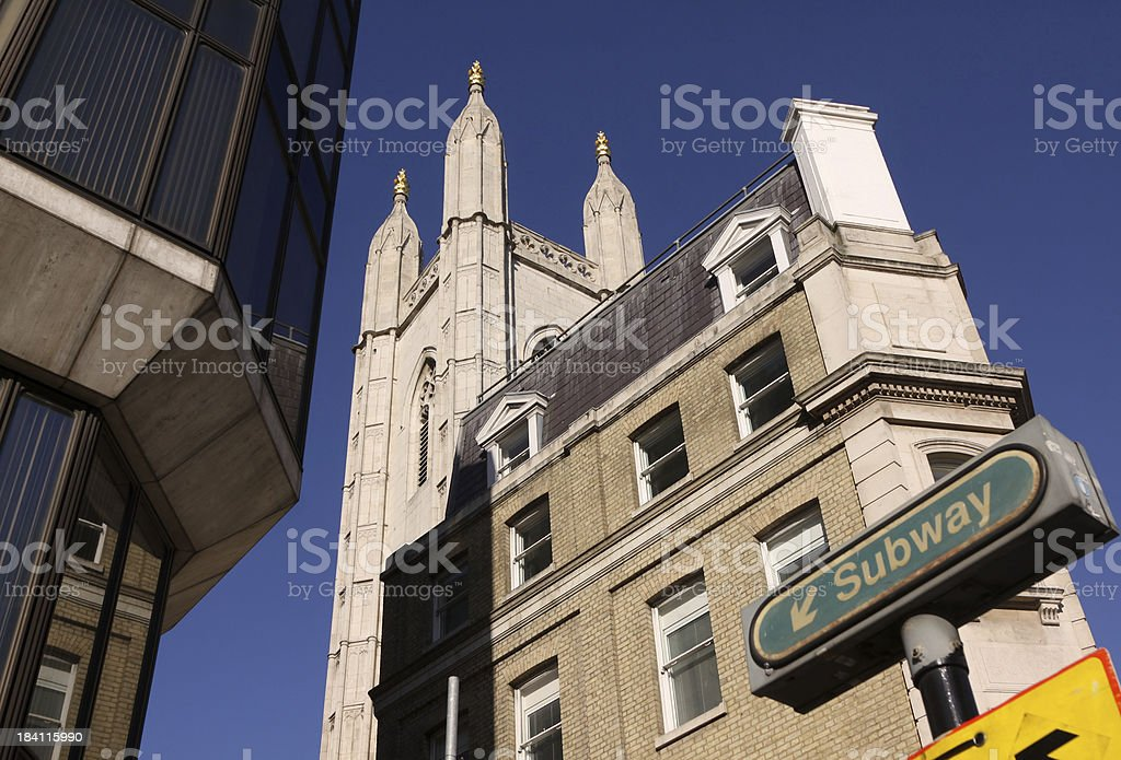 Guild Church of St Mary Aldermary in London, England royalty-free stock photo