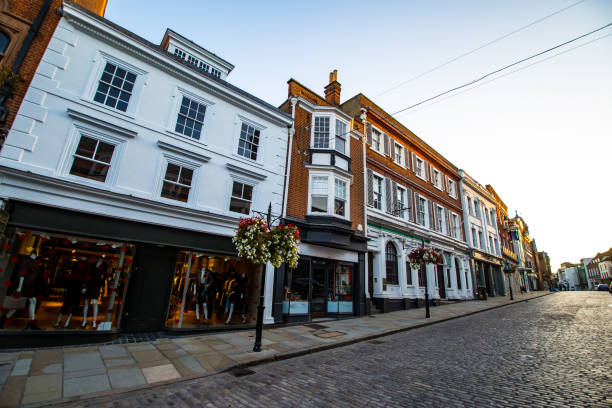 Guildford England Guildford High Street Surrey England AM stock pictures, royalty-free photos & images