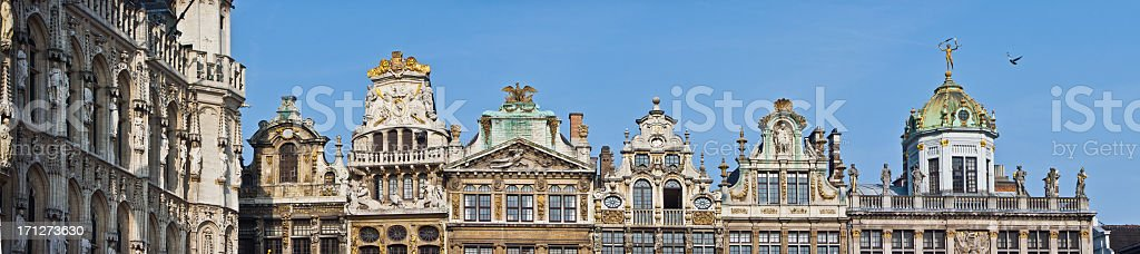 Guildhalls at Grand Place, Brussels, Belgium royalty-free stock photo