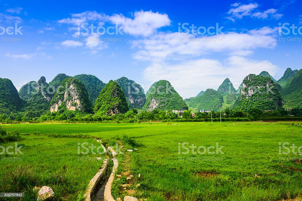Guilin China Landscape stock photo