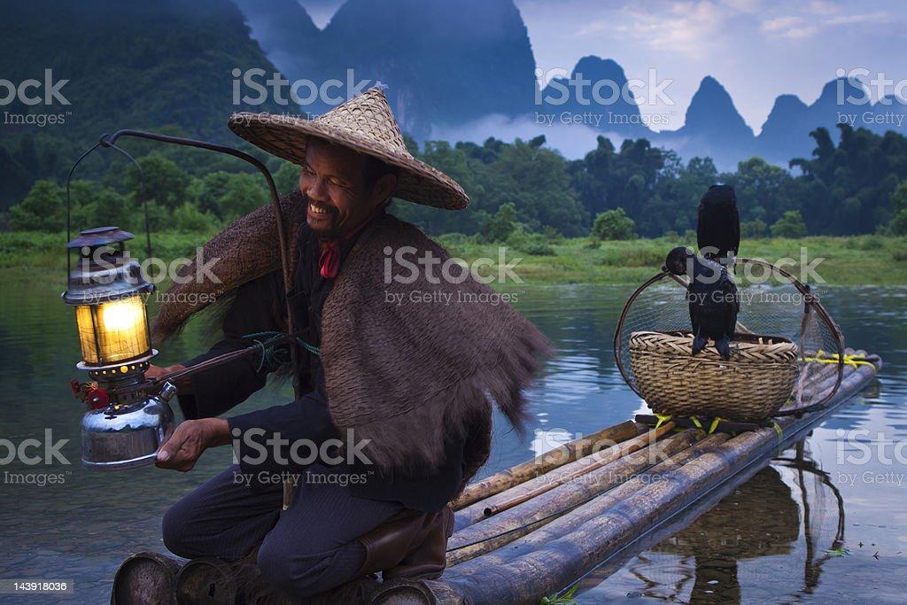 Guilin Fishermen royalty-free stock photo