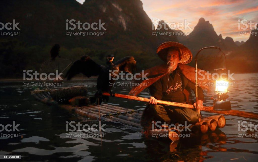 Guilin Fishermen stock photo