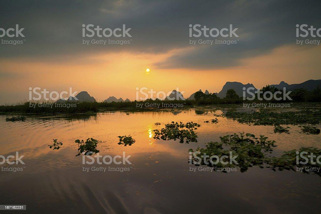 Guilin wetland royalty-free stock photo