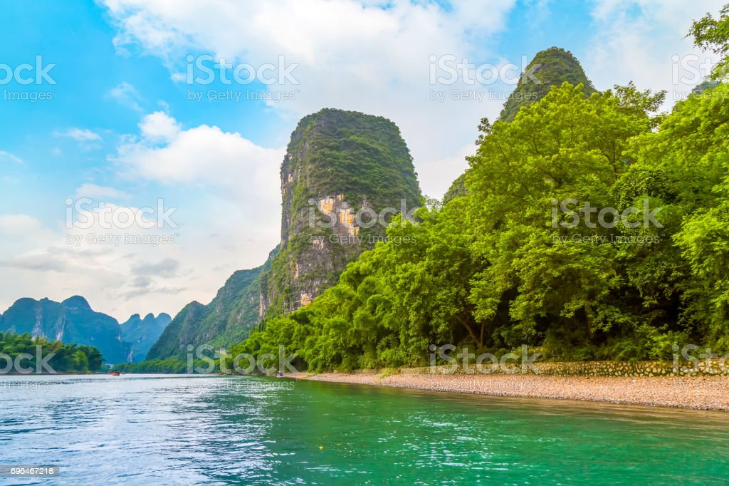 Guilin yangshuo beautiful scenery of mountains and rivers stock guilin yangshuo beautiful scenery of mountains and rivers royalty free stock photo voltagebd Images