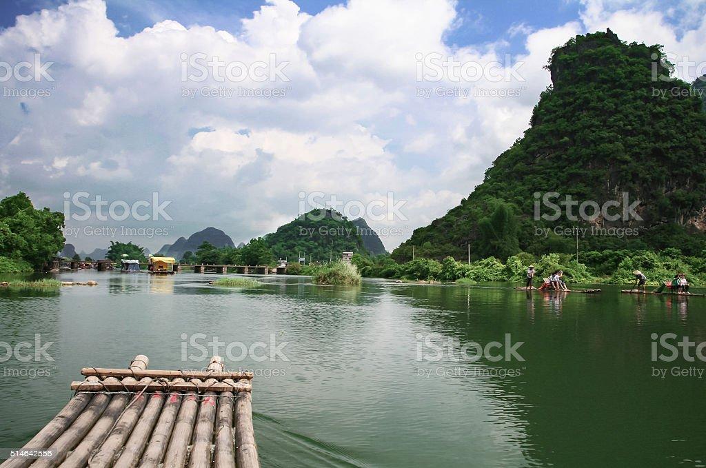 Guilin Yulong River stock photo