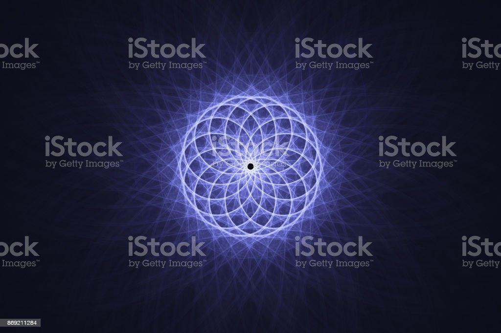 Guilloche grid on a dark blue background stock photo