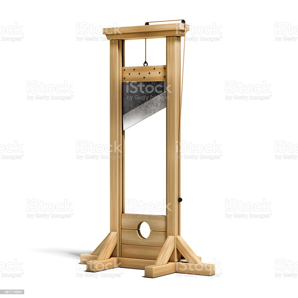 guillotine 3d illustration stock photo
