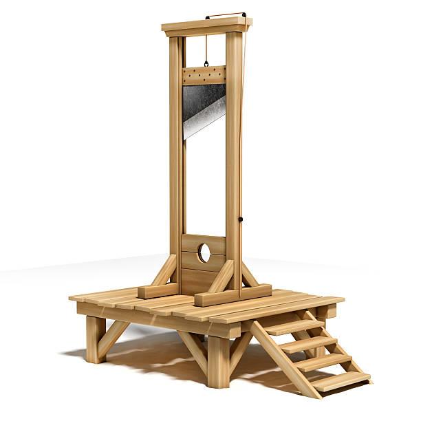 guillotine 3d illustration stock photo
