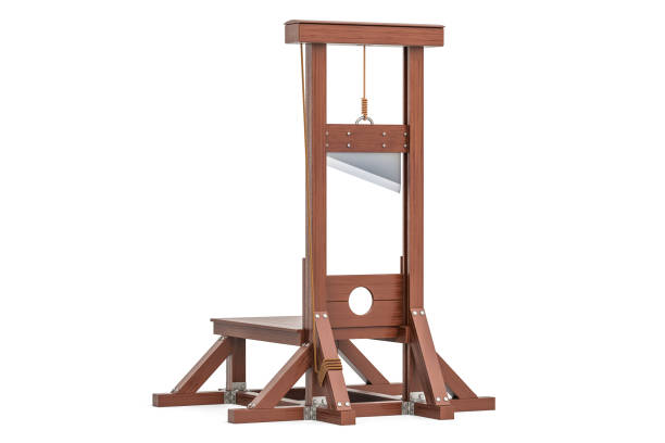 guillotine, 3D rendering isolated on white background stock photo