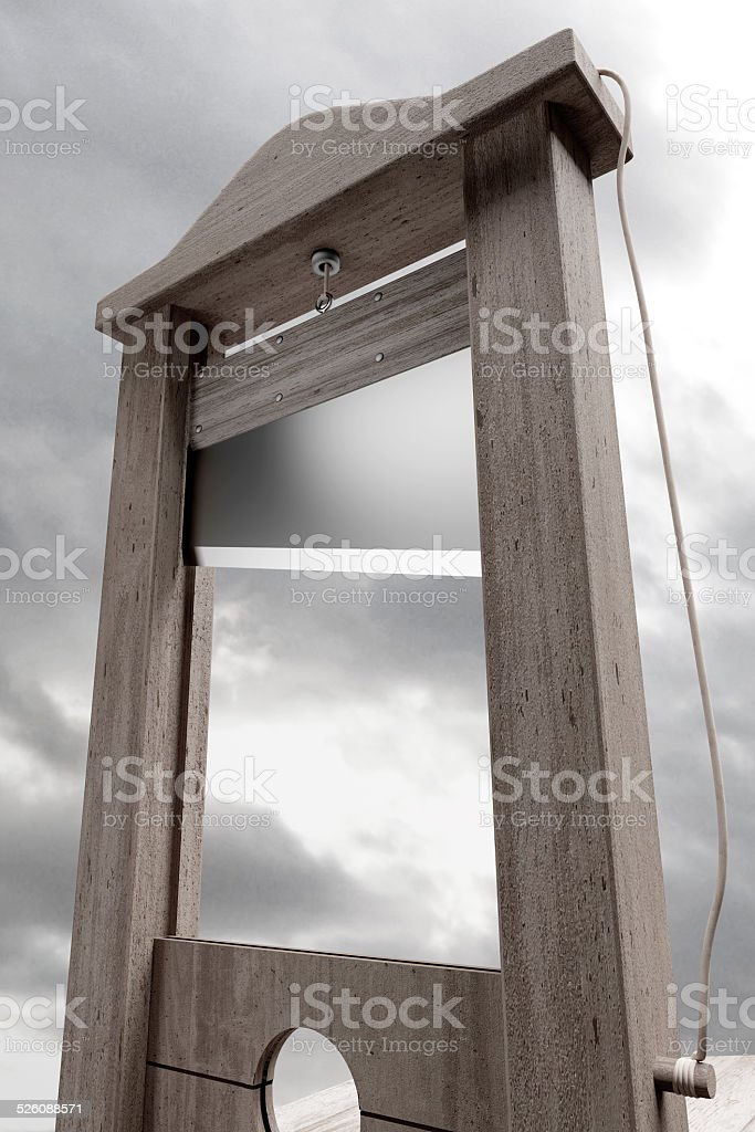 Guillotine stock photo