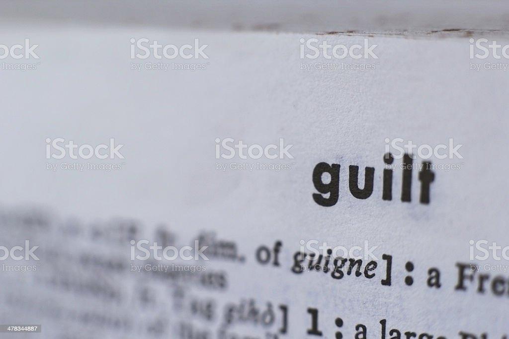 Guilt stock photo