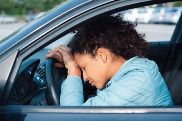 Schuldig Fahrer schlecht fühlen nach Autounfall – Foto