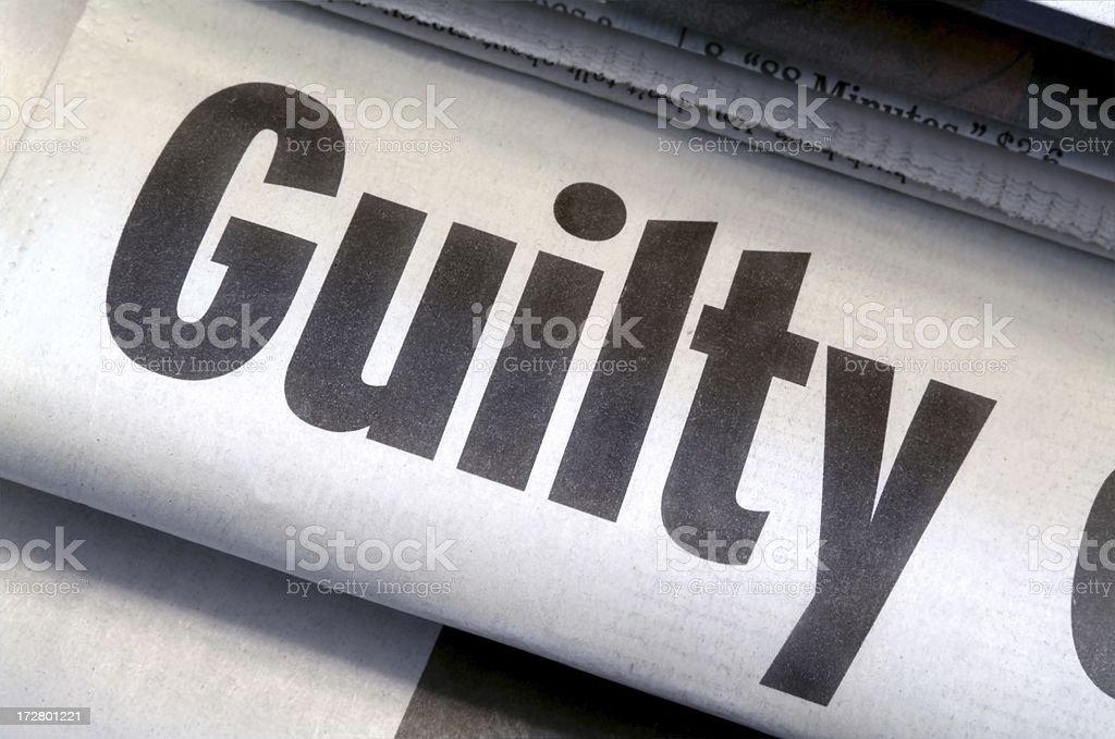 Guilty Headline royalty-free stock photo