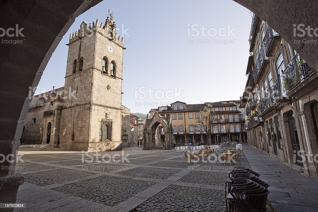 Guimaraes city Square stock photo